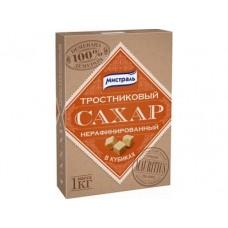 Сахар нерафинированный в кубиках МИСТРАЛЬ, 1кг, 1 штука