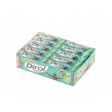 Жевательная резинка DIROL мята и мелисса, 13,6г, 30 упаковок