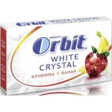 Жевательная резинка ORBIT Crystal Клубника-Банан, 21г, 1 штука