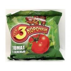 Сухари ТРИ КОРОЧКИ со вкусом томата и зелени, 40г, 5 штук