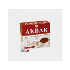 Чай AKBAR красно-белый, 100х2г, 1 коробка