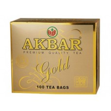 Чай AKBAR черный золотая серия, 100х2г, 1 штука