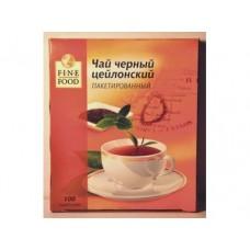 Чай FINE FOOD индийский черный пакетированный, 100х1,8г, 1 штука