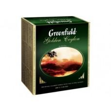 Чай GREENFIELD Golden Ceylon черный, 100 пак., 1 упаковка