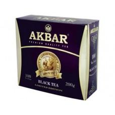 Чай AKBAR черный пакетированный, 100х2г, 1 штука