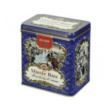 Чай HILLTOP музыкальная шкатулка земляника со сливками, 125г, 1 штука
