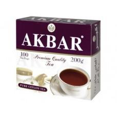 Чай AKBAR черный пакетированный классический, 100х2г, 1 штука