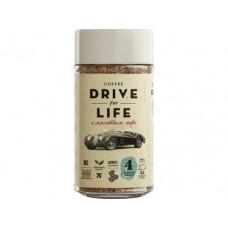 Кофе DRIVE FOR LIFE натуральный растворимый сублимированный с добавлением молотого, 100г, 1 штука