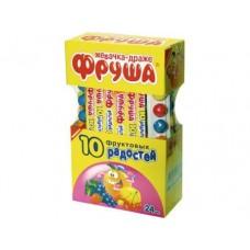 Жевательная резинка ФРУША 10 фруктовых радостей, 20г, 24 штуки