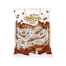 Вафельные конфеты КОРОВКА со вкусом шоколада, 250г, 1 штука