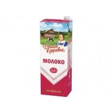 Молоко ДОМИК В ДЕРЕВНЕ стерилизованное, 3,2% 1450 г, 1 штука
