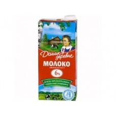 Молоко ДОМИК В ДЕРЕВНЕ  стерилизованное, 6% 950г, 1 штука
