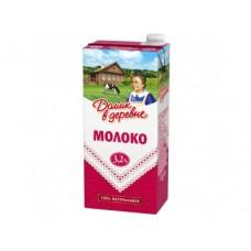 Молоко ДОМИК В ДЕРЕВНЕ стерилизованное 3,2%, 950г, 1 штука