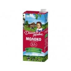 Молоко ДОМИК В ДЕРЕВНЕ стерилизованное 3,2%, 950г, 12 штук