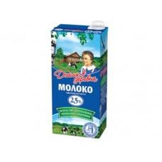 Молоко ДОМИК В ДЕРЕВНЕ стерилизованное, 2,5% 950г, 1 штука