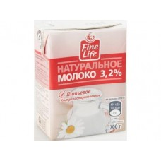 Молоко FINE LIFE стерилизованное 3,2%, 200г, 1 штука