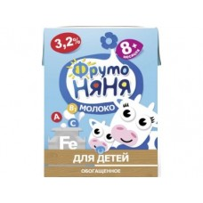 Молоко ФРУТОНЯНЯ стерилизованное обогащенное 3,2%, 200г, 1 штука