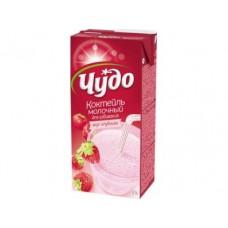 Молочный коктейль ЧУДО Клубника 5%, 950г, 1 штука