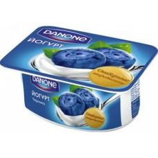 Йогурт DANONE черника 1.6%, 110г, 1 штука