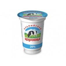 Сметанный продукт АЛЬПИЙСКАЯ КОРОВКА, 20% 500г, 1 штука