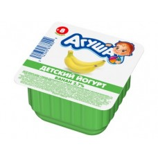 Йогурт АГУША банан, 90г, 1 штука