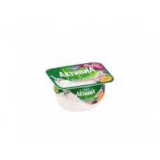 Йогурт АКТИВИА творожная Черника-курага-инжир, 130г, 1 штука
