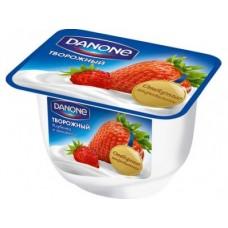 Творожный десерт DANONE клубника-земляника, 170 г, 1 штука