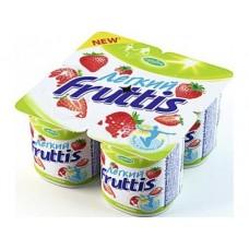 Десерт FRUTTIS легкий клубничный 0,1%, 4х110г, 1 упаковка