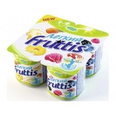 Десерт FRUTTIS легкий ананас-дыня и лесные ягоды 0,1%, 4х110г, 1 упаковка
