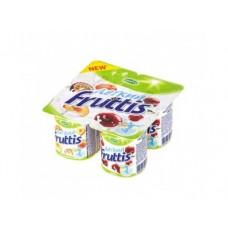 Десерт FRUTTIS 0,1% легкий персик-маракуйя и вишня, 4х110г, 1 упаковка