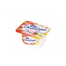 Творожный десерт ДАНИССИМО клубника/банан, 130г, 1 штука