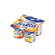 Йогурт FRUTTIS Инжир-чернослив,малина-земляника 5%, 4х115г, 1 упаковка