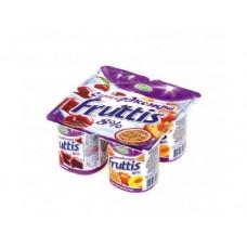 Йогурт CAMPINA Fruttis Супер экстра персик-маракуйя, вишня 8%, 4х115г, 1 штука