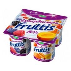 Йогурт FRUTTIS Абрикос/манго 8%, 4х115г, 1 штука
