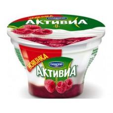 Йогурт DANONE Activia творожная малина 4,8%, 140г, 1 штука