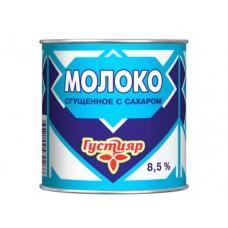 Молоко сгущенное ГУСТИЯР с сахаром 8,5%, 380г, 1 штука