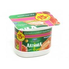 Йогурт АКТИВИА Клубника, 150г, 1 штука