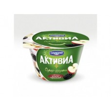 Биойогурт АКТИВИА Danone Супер-фрукты яблоко-чернослив 2,4%, 210г, 1 штука