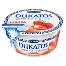Йогурт DUKAT греческий клубника, 150г, 1 штука