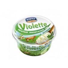 Творожный сыр VIOLETTE с зеленью, 140г, 1 штука