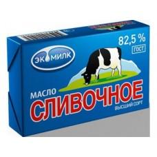 Сливочное масло ЭКОМИЛК Крестьянское 72,5% , 180г, 1 штука