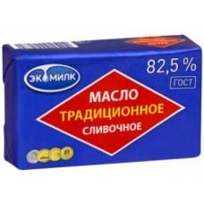 Сливочное масло Традиционное ЭКОМИЛК 82,5%, 450г, 1 штука