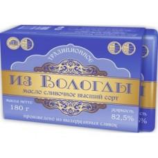 Масло ИЗ ВОЛОГДЫ Традиционное 82,5%, 180г, 1 штука