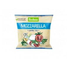 Сыр Моцарелла BONFESTO 45% 1 шар, 100г, 1 штука