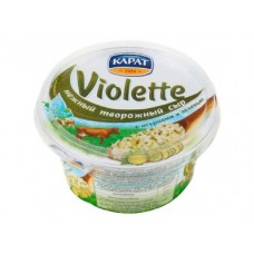 Творожный сыр VIOLETTE с огурцами и зеленью, 140г, 1 штука