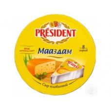 Плавленый Сыр  PRESIDENT маасдам, 140г*8шт, 1 штука