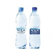 Питьевая вода AQUA MINERALE газированная, 0,6л, 24 штуки
