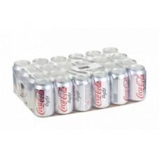 COCA-COLA light газированный напиток, 0,33л, 24 штуки