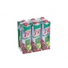 Нектар J7 виноград-яблоко-вишня, 0,97л, 6 штук