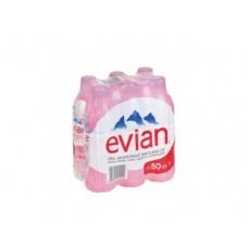 Минеральная вода EVIAN пэт, 0,5л, 6 штук